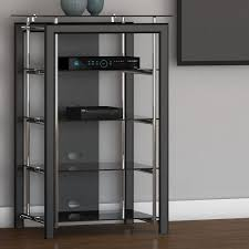 Glass Shelves Cabinet Audio Rack Shelf Ebay