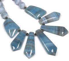 blue bib necklace images Blue lace agate collar necklace graduated focal fan bib jpg
