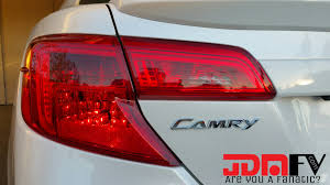 Tail Light Out 12 14 Toyota Camry Precut Redout Tail Light Overlays Tint With