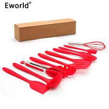 ustensile de cuisine en silicone eworld 10 pcs ensemble ensembles d outils de cuisine ustensiles de
