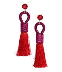hm earrings lyst h m earrings with tassels in