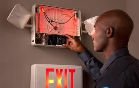 Emergency Lighting Fixture Emergency Light Testing Exit Light Testing Cintas