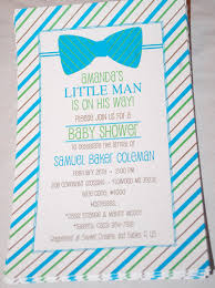 baby shower invitations new bow tie baby shower invitations