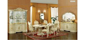 Italian Dining Room Furniture Leonardo Ivory Wood Italian 7 Dining Room Set