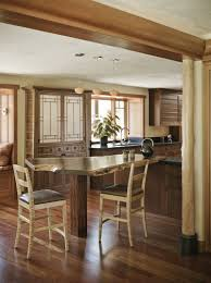 Solid Wood Kitchen Cabinets by Pretty Asian Style Kitchen With Solid Wood Mounte Table And Wooden