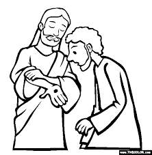 doubting thomas apostle coloring