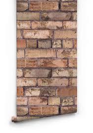 exposed brown brick wallpaper milton u0026 king uk