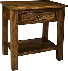 Nightstand With Shelf Lindholt Collection Ohio Hardword Upholstered Furniture