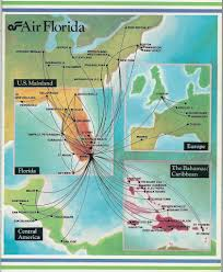Central Florida Map Air Florida Route Map December 1983 Air Florida Route Map U2026 Flickr