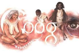 doodle name aldi australia day doodle depicts plight of the aboriginals