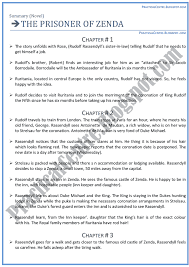 practical centre the prisoner of zenda drama chapters summary