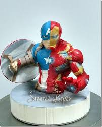 iron cake topper marvelous captain america civil war cake between the pages