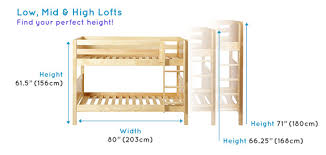 What Makes Maxtrix Kids Bunk Beds Different Maxtrix - Height of bunk beds