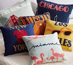 Pottery Barn Kids Barton Creek Mall Austin Crewel Embroidered Pillow Pottery Barn