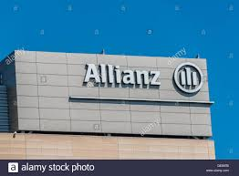 allianz banque siege social allianz insurance sign photos allianz insurance sign images alamy