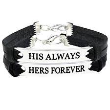 bracelet sets his and bracelets leather for couples couples