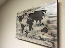 Wall Art World Map by Travel Wall Decor Wood Wall Art World Map Wooden World Map