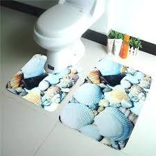 Seashell Bathroom Rugs Shell Bath Rug Wholesale Sea Blue Shell Bath Rug Set Toilet
