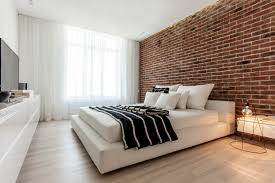 28 exposed brick bedroom bedroom with exposed brick wall