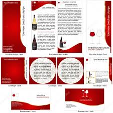wine brochure template wine stationary template stock vector stiven 8147004