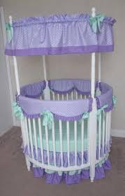 ruffled round crib bedding set baby pink gray and white giraffe