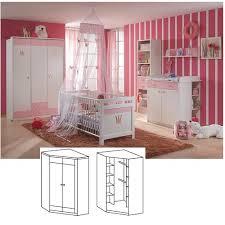 günstige babyzimmer kinderzimmer cinderella eckschrank 2trg alpinweiß rosé wimex