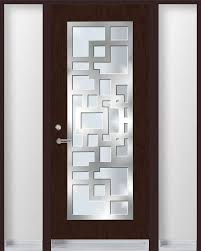 Entry Door Designs Single Entry Door With Stainless Steel Frame On Top Of Glass