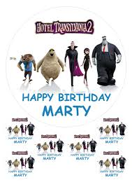 hotel transylvania cake toppers hotel transylvania 7 5 6 x 2 personalised edible cake