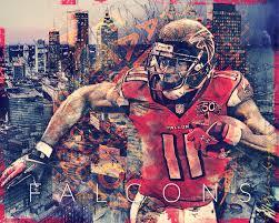 Atlanta Falcons Home Decor by Atlanta Falcons Skyline Art Featuring Fan Favorite Julio