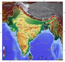 Maps Of India by Detailed Topographical Map Of India India Detailed Topographical