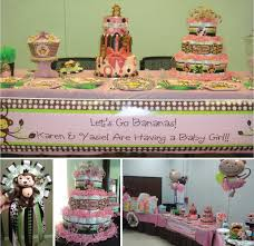 girl themed baby shower baby shower monkey theme girl 5444