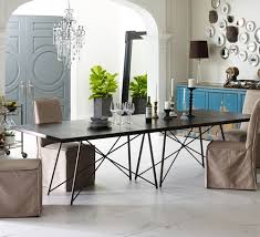 industrial kitchen table furniture oxidized iron industrial geometric dining table 114 zin home