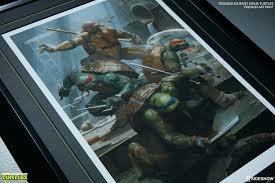 tmnt teenage mutant ninja turtles premium art print sides