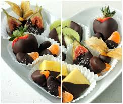fruit dipped in chocolate 039 s day assorted chocolate dipped fruit plate