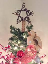 burlap bow ornaments twig tree topper sypsie designs