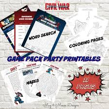 instant download captain america civil war game pack party
