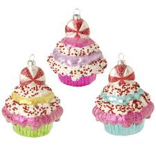 raz sprinkles 4 inch glass cupcake with peppermint top