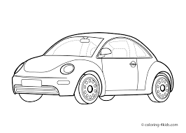 car volkswagen beatle coloring page for kids homeschooling