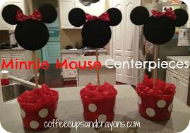 Mickey And Minnie Mouse Home Decor How To Make Easy Minnie Mouse Centerpieces