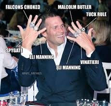Funny Tom Brady Memes - five count em five super bowl rings for tom brady forgot deflate