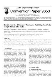 aes e library can we hear the difference testing the audibility