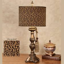 safari and african home decor touch of class cheetah table lamp antique gold each with cfl bulb