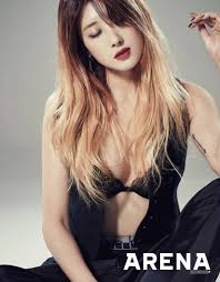 hyuna is as sexy as ever in recent photo shoot soompi nb nine muses hyuna takes a sexy photo for arena netizen