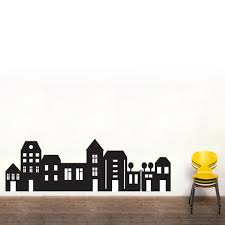 wall decals simple shapes color the walls of your house pics photos city skyline vinyl wall art decal wd 033