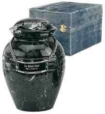 memorial urns small black grain marble urn memorial urns