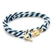 bracelet with anchor images Gold anchor navy and white bracelet nautical horizon jpg