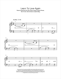 tutorial piano simple learn to love again sheet music by lawson 5 finger piano 115869