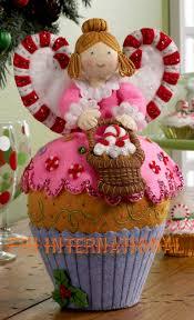 Angel Home Decor Cupcake Angel 3d Bucilla Felt Christmas Home Decor Kit 86209
