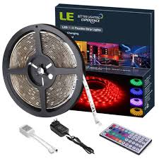 led light strips kit amazon com le 12v dc waterproof rgb led light strip kit colour