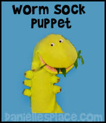 How To Make A Paper Worm - puppet crafts can make